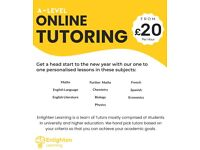 A-Level Maths, Physics, Chemistry & Biology Tutor from £20p/h