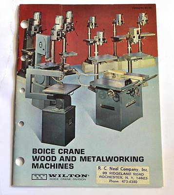 Wilton Boice Crane Wood And Metalworking Machine Brochure