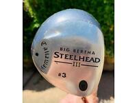 Ladies Callaway Big Bertha Steelhead III flex 3 Wood