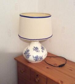 Large up-cycled crafted table lamp