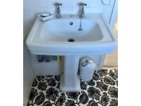 Traditional Pedestal Sink with taps