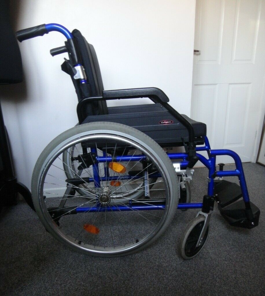 Self propelled Drive Enigma lightweight wheelchair with footrests,  comfortable padded seat | in Aberdeen | Gumtree