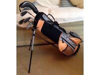 Set of Quality Children's L/H Golf Clubs 'US KIDS' + Trolley RRP £139 SUPERB!!!