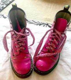 Pink Dr Martens size 5 VERY WORN