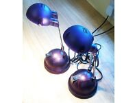2 purple IKEA desk lamps