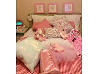 PINK-THEMED BEDROOM ACCESSORIES (UNUSED)
