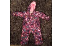 Girls snow suit 12-18 mths