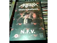 VHS Video Anthrax - Oidivnikufesin, recorded at Hammersmith Odeon November, 1987.