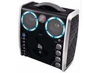 Karaoke machine with mic