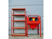 Sand Blasting Cabinet Special offer with Shelving