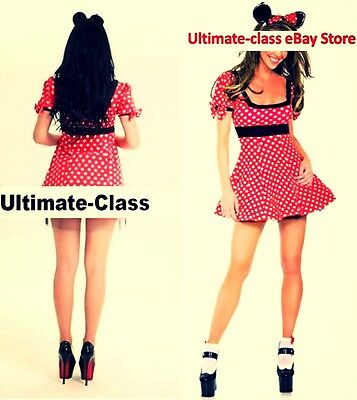 Adult Minnie Mouse Costume M L XL NEW Fast U.S. Shipping