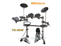 Roland TD-6KV electronic V Drums kit pedal & VEX upgraded module sticks & manual set