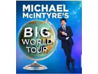 2 micheal mcintyre world tour tickets @ manchester arena 20th april best seats