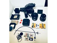 Mamiya RZ67 ProII READY TO GO KIT, 3 lenses, prism finder, grip, 2x film & polaroid backs and more