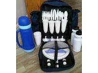 Rucksack style Picnic Cool Bag fully equipped