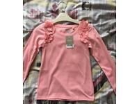 Girls long sleeve pink top from next 6 years NEW