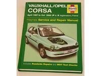Vauxhall / Opel Corsa Service and Repair Car Manual Hardback Book