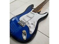 Full size blue Benson electric guitar In good condition