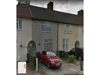 SPACIOUS 2 BEDROOM HOUSE WITH 2 SEP REC'NSREADY TO MOVE IN DAGENHAM,(RM9) GOOD PART/DSS WELCOME