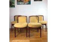 Erik Buch for Ørum Møbler Vintage Mid Century Modern Set of 4 Danish Teak Chairs FREE LOCAL DELIVERY