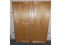 Billy Bookcase Doors - Birch - £25 a pair