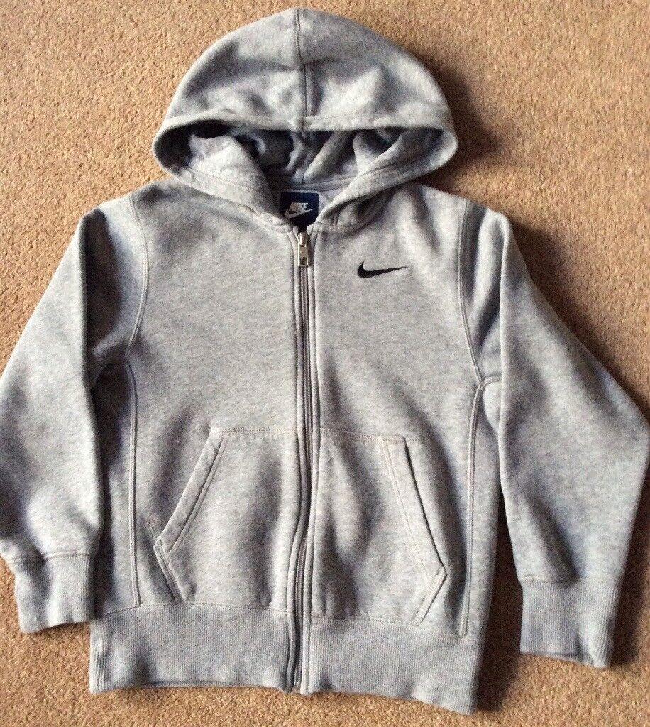 Nike Grey Full Zip Hoodie 8 - 10 Years
