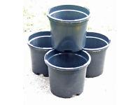 "NEW 1.5Lt 15cm 6"" Black Plant Pots - With 2 tier drainage levels - £1.00 for 4"