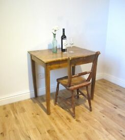 Vintage Fruitwood Bistro Table