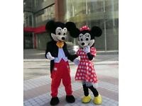 Mickey Mouse and Minnie Mouse Mascot