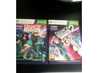 Xbox 360 kinect dance central 1 and 2