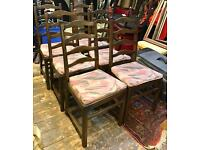 Set Of Six Ercol Ladder Back Dining Chairs