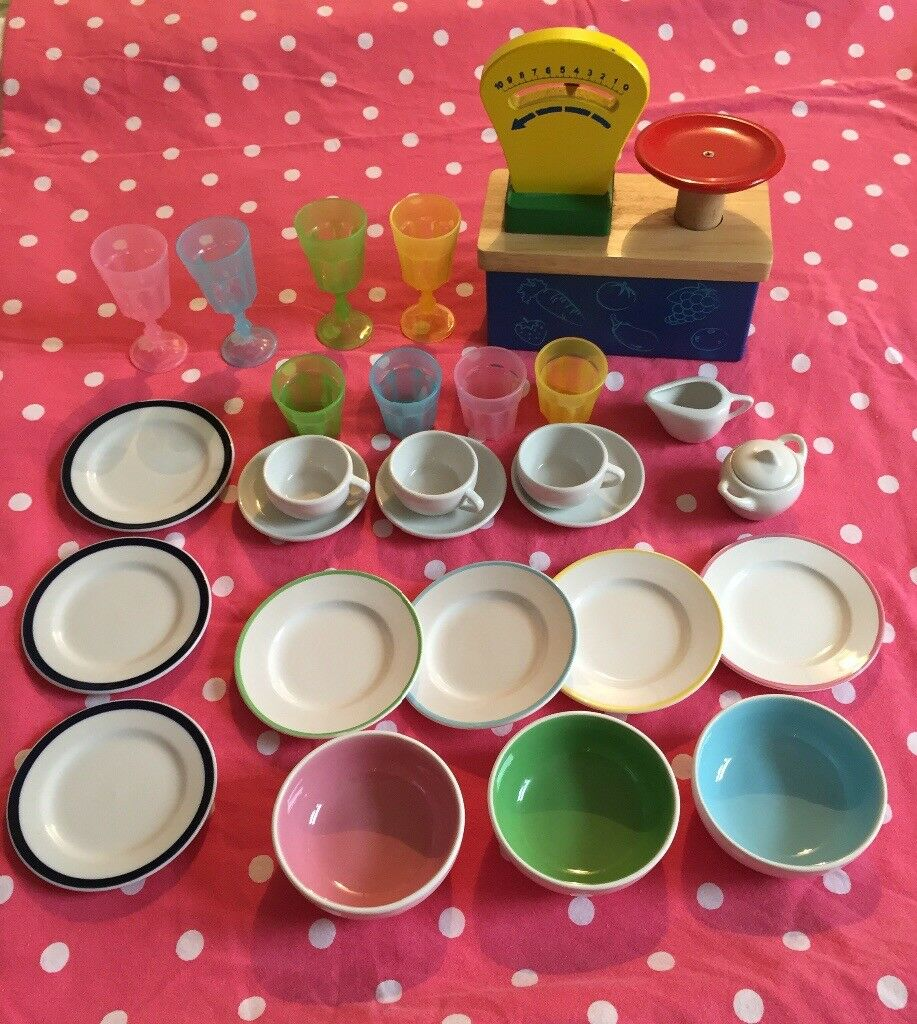 27 piece childrens tea party set/play kitchen toys.china.scales.glasses.traditional toys.shop.