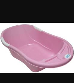 Baby bath tub with seat pink