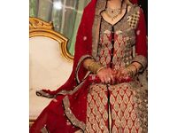 Gorgeous asian wedding dress for sale, only worn for one evening - £1,800