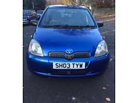 Toyota Yaris 1.0 Blue 5 Door Hatchback 2003 £995 ono