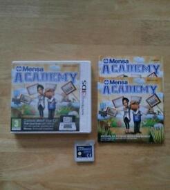 3DS GAME MENSA ACADEMY £ 3