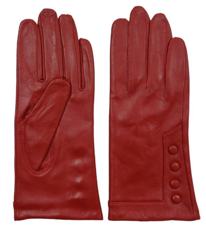 Red Leather Gloves Ebay