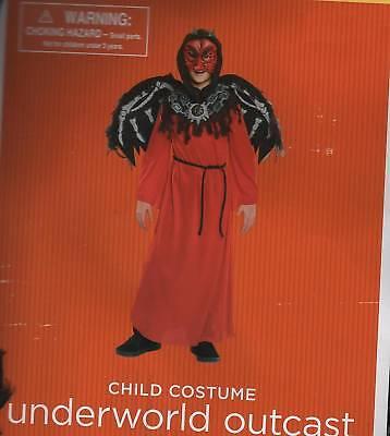 DEMON UNDERWORLD OUTCAST Small Medium Child Costume Wings Boys Mask Dark Angel