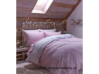 BRUSHED POLKA DOT PINK KINGSIZE DUVET SET