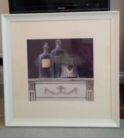 Laura Ashley Print in cream frame - Great centre piece for lounge or dining room