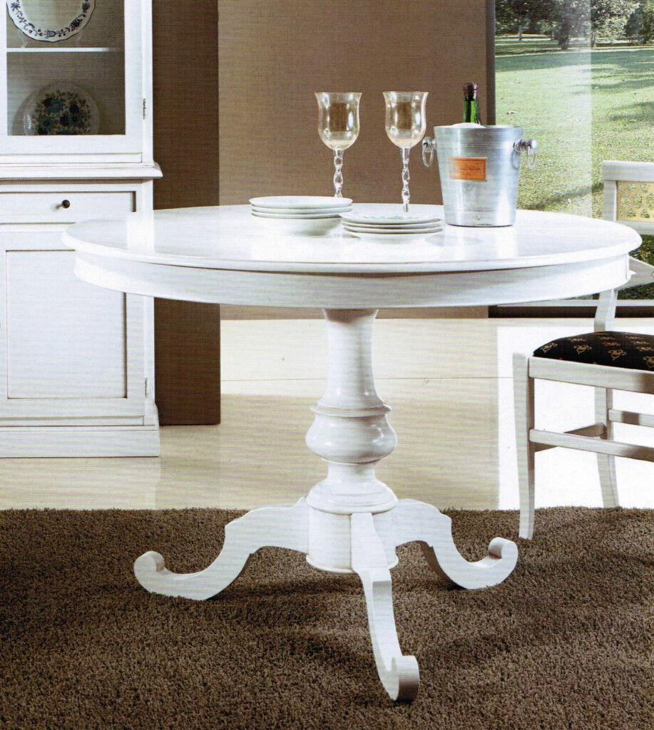 Ceppo Di Legno Tavolino dettagli su tavolo in legno tondo allungabile con ceppo bianco