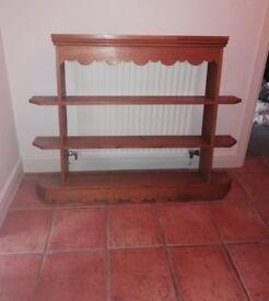 Large solid oak shelves