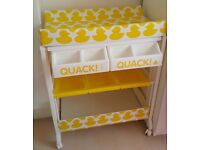 Cosatto baby changing table and bath - Yellow duck motif