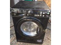 Hotpoint Aquarius WDPG 8640K Washer Dryer - Washing Machine- Black