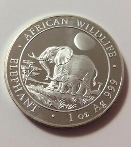 2011 1 oz Silver Somali Elephant
