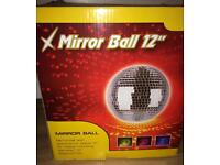 Large 12inch mirror ball with motor