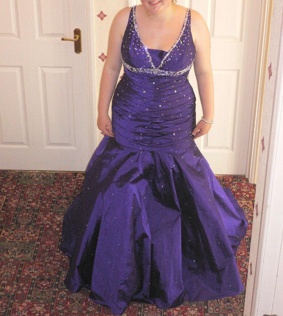 Mari Lee Purple Fishtail Dress Size 22 Prom Dress Ball Gown Or