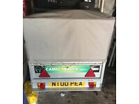 Camel Trailer with high sides and cover