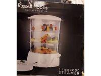 3 Tier Food Steamer - Russell Hobbs Electric - Used