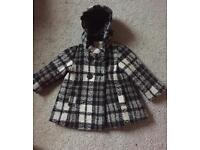 Next Checked Coat - 9-12 months